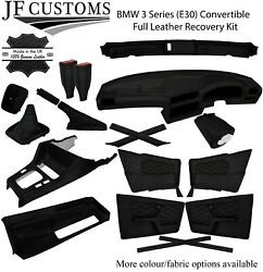 Black Stitch Leather Covers For Bmw 3 Series E30 Convertible Full Interior Kit