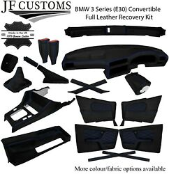 Blue Stitch Leather Covers For Bmw 3 Series E30 Convertible Full Interior Kit