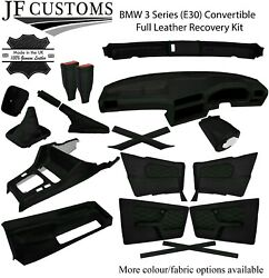 Green Stitch Leather Covers For Bmw 3 Series E30 Convertible Full Interior Kit