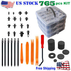 721 Pcs Car Retainer Nylon Auto Fasteners Push Trim Clips Pin Rivet Bumper Kit