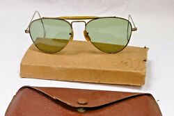 Naturalite Aviator Sunglasses From The 40's Or 50's New Old Stock - Really Rare