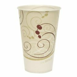 Solo 12oz Waxed Paper Cups - 12 Oz - 2000/carton - Wax Paper, Poly - Beige