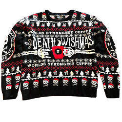 Xxl Menandrsquos 2015 Death Wishmas Coffee Co. Ugly Sweater Christmas Skulls Holiday
