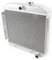 3 Row Aluminum Radiator For 1955-1957 1956 Chevy Bel Air / Del Ray 150 210 L6