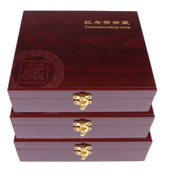 3pcs Solid Wood Coin Display Box Collector Challenge Coin Holder, Holds 30 Coins