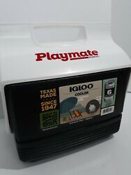 Igloo Playmate Mini Black Cooler White Flip Top 4 Quarts 3 Liters 6 cans $21.98