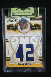 2008 Playoff Prime Cuts Colossal Jackie Robinson Game Worn Patch W/box 09/20
