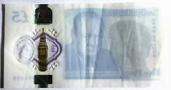Great Britain 2017 . 5 Pounds Banknote . Misprint . Missing Print On One Side