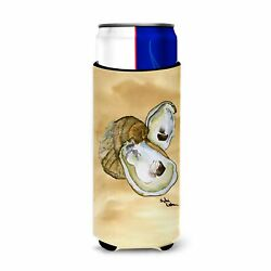 Oyster Sandy Beach Ultra Beverage Insulators For Slim Cans 8160muk