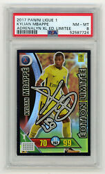 Kylian Mbappe Edition Limitee Signed Panini Foot Adrenalyn Xl 2017-2018