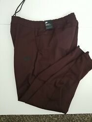Nike Tech Sportswear Woven Tapered Pants Maroon Black AR3221 263 Men#x27;s Size L