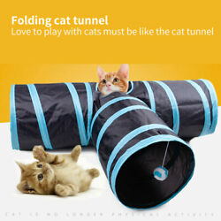 EPaw Collapsible Cat Tunnel Tube Interactive Indoor Cats Peek Hole Kitten Toys