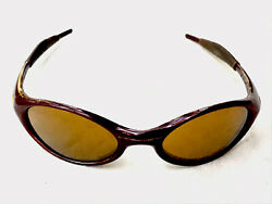 "OAKLEY "" Jacket "" Vintage Maroon Oval Sunglasses Made in USA $50.00"