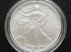 2006-w Burnished American Silver Eagle Dollar 1 Troy Ounce U.s. Coin D5041