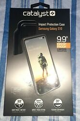 Black Catalyst Impact Protection Case With Wristlet For Samsung Galaxy S10 $14.00