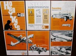 Vintage 1962 Ideal Itc Model Craft Hobby Kits Dealer Catalog Pages Cars Boats +