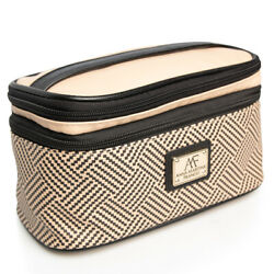 Anna Martina Franco Travel Makeup Train Case Organizer Cosmetic Bag Storage Kit $7.99