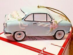 Lenox Vintage Car Just Married Ornament NEW IN BOX