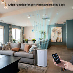 Large Room 4 In 1 Air Purifier With Hepa Filter Uv-c Sanitizer Remove Odor Dust