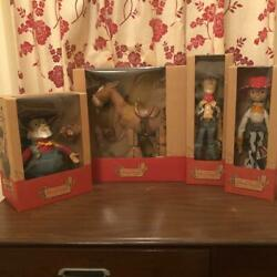 Disney Resort Vintage Toy Story Young Epoch Roundup 4 Set Doll Rare Japan 4