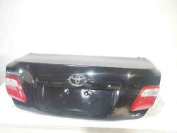 2008 Toyota Camry Decklid W/ Latch + Lights Key Hole Black In Color