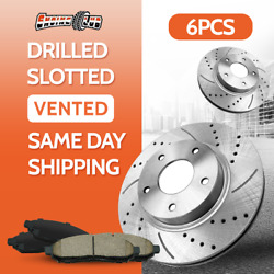Rear Brake Rotor And Ceramic Pad For 2003 2004-2008 Dodge Ram 2500 3500 2wd/4wd