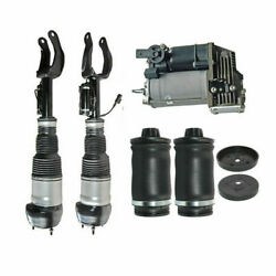 Brand New For Benz W/x166 Front Pair Air Struts+rear Pair Spring Bag +compressor