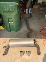 Genuine Bmw 3 Series / 4 Series Exhaust - Muffler And Center Pipe With Resonator