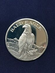 Bald Eagle North American Wildlife Series Two Ounce Silver Art Medal E6322