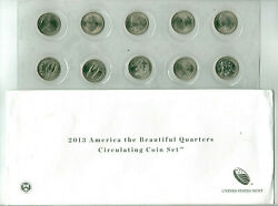 Lot Of 3 Sets 2013 P And D America The Beautiful Quarters - In Us Mint Packages