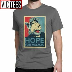 Hope For Melmac Yes We Can Parody With Alf T Shirts Men Cotton T-shirt Round