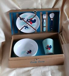 Reed And Barton - Zoom Zoom - Childand039s 5 Pc Melamine Dinnerware Set - New In Box
