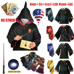 Robe+tie+scarf+led Wand Harry Potter Robe Costume Halloween Cosplay Xmas Party