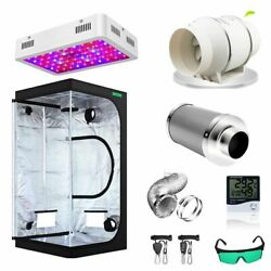 Grow Tent Room Complete Kit Hydroponic Growing System Led Grow Light + 4/6