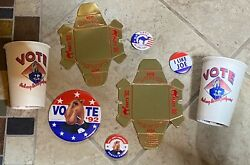 Vote Joe For President The Camel Party Pack C - Ashtrays Cups Buttons Pins Andlsquo92