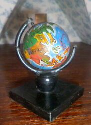 Antique Large Globe For Schoolroom Roombox 112 Dollhouse Miniature