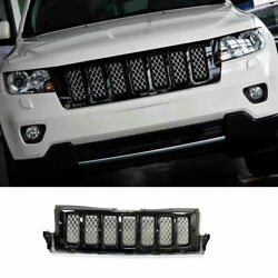 For 2011-2013 Jeep Grand Cherokee Abs Black Front Center Mesh Grille Grill Trim