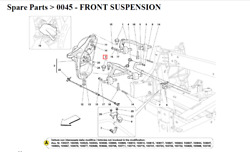 New Ferrari Complete R.h. Front Lower Lever 242496