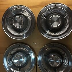 """Vintage Pontiac Hubcaps 14"""" From 1962"""