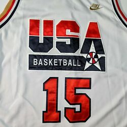 Nike 1992 Dream Team Magic Earving Johnson Special Gold Edition Jersey Xl White