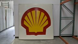 Shell Oil Gas Station Sign, Large, 8' X 8'