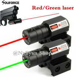 US Red Green Dot Laser Sight For 11 20mm Picatinny Rail Rifle Weaver Hunting $29.44