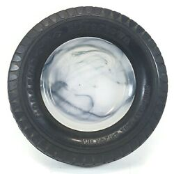Vintage Tire Ashtray Goodrich Tires Silvertown Counter Display Service Blue