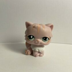 Littlest Pet Shop LPS #460 Authentic Persian Cat with Green Diamond Eyes