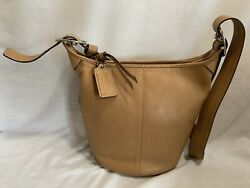 Coach Bucket Leather Purse F13353 Tan Cream Shoulder or Crossbody Bag $63.99