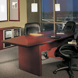 6' - 14' Large Conference Room Table, Boardroom Table, Cherry Or Mahogany Wood