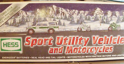 Hess Sport Utility Vehicle And Motorcycles,2004 Hess Toy Truck 40th Anniversary