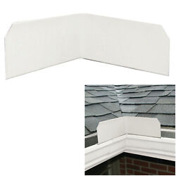 3 Or 6-pack Aluminum Roof Valley Splash Shield Gutter Guard In White