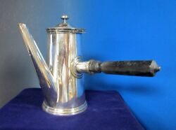 Christofle Side Pour Coffee Or Chocolate Pot Ulan 15 Military Silverplate