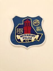 Waterbury Connecticut Police Shoulder Patch New